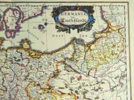 Foto 3 Alte Karte Deutschland um 1665  (B037)