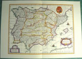 Alte Karte von Spanien 1634 (B039)