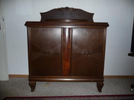 Alte Sideboard/Buffet-Kombination Eiche dunkel gebeizt um 1910