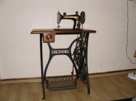 alte singer noch funktionsf hige n hmaschine in frankfurt mechanisch singer. Black Bedroom Furniture Sets. Home Design Ideas