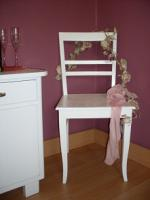Alter Stuhl, holz, in shabby chic