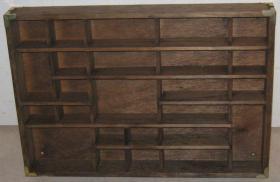 Alter antiker? Setzkasten aus Holz mit Beschlägen 43 cm x 30 cm