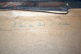 Foto 2 Altes Aquarell, La - Seine au Pont, von M. Sicard, Alter unbekannt.