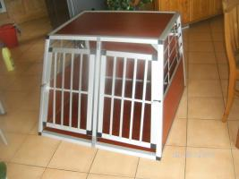 Alu Doppel Hundetransportbox NEU XXL