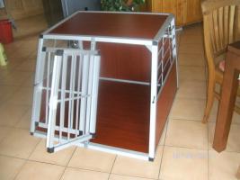 Foto 3 Alu Doppel Hundetransportbox NEU XXL