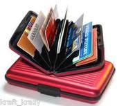Aluminium Kreditkarten Etui, Diverse Farben, Fabrikneu