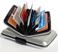 Foto 5 Aluminium Kreditkarten Etui, Diverse Farben, Fabrikneu