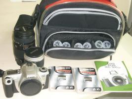 Analoge Spiegelreflex Kamera Canon EOS 300 komplett set