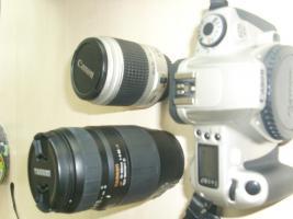 Foto 3 Analoge Spiegelreflex Kamera Canon EOS 300 komplett set