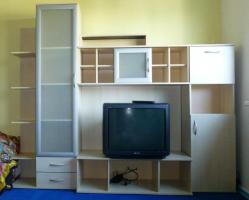 Anbauwand Schrankwand inklusive Sony Fernseher