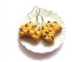 Angebissene Keks - Ohrringe