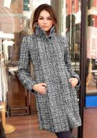 Aniston - Mantel schwarz-creme-taupe Gr. 38 - OVP - NEU