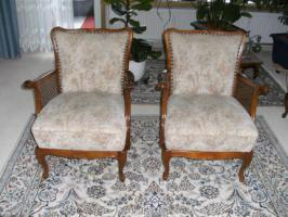 Foto 2 Antik Möbel altdeutsches Linitzer Sofa mit 2 Sesseln **TOP**