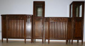 Antik- Möbel, 16-Teile, 1900-1920 J.( Vitrinen, Sideboard''s, Tisch, Stühle, Lampe usw.
