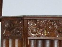 Foto 2 Antik- Möbel, 16-Teile, 1900-1920 J.( Vitrinen, Sideboard''s, Tisch, Stühle, Lampe usw.