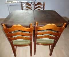 Foto 6 Antik- Möbel, 16-Teile, 1900-1920 J.( Vitrinen, Sideboard''s, Tisch, Stühle, Lampe usw.