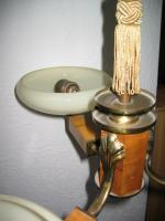 Foto 2 Antike 3 Stabschalenlampe