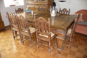 antike essgruppe aus belg schloss gro er tisch m 8 st hlen in dorsten von privat. Black Bedroom Furniture Sets. Home Design Ideas