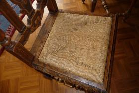 Foto 4 Antike Essgruppe aus belg. Schloss - Großer Tisch m. 8 Stühlen