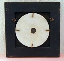 Foto 2 Antiker Echtholz/Gipsrahmen mit Marmorbild