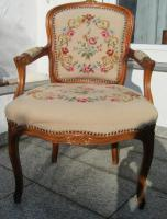 Antiker Gobelin Sessel / Barock / Biedermeier