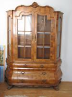Foto 2 Antiker Schrank um 1880 geschwungen in Nussbaum Intarsien