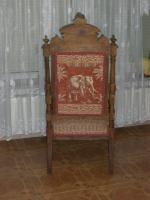 Foto 2 Antiker Sessel / Armlehnstuhl aus der Gründerzeit, nußbaum