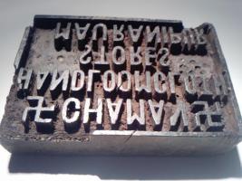Antiker Stempel einzigartig, mit Hakenkreuzen aus Masivholz