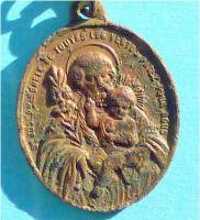 Foto 2 Antikes Schutzamulett, St. Saint Joseph mit Jesus auf dem Arm