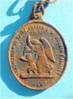 Foto 3 Antikes Schutzamulett, St. Saint Joseph mit Jesus auf dem Arm