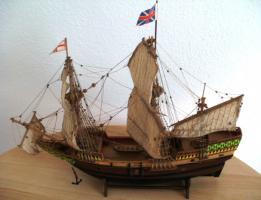 Foto 3 Antikes Segelschiffsmodell MAYFLOWER