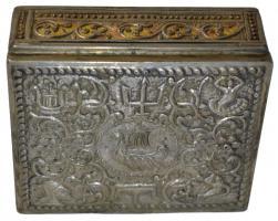 Foto 2 Antikes Silberdosen Set dreiteilig