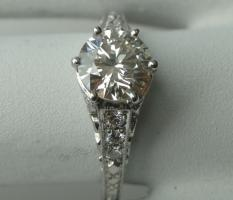 Foto 4 Antique style 0,73 cts Diamant-Verlobungsring 18k