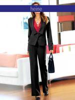 Anzug schwarz von heine - Größe 38 - Neu