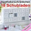 Apothekerschränkchen Apothekerschrank 18 Schubladen REDUZIERT NEU