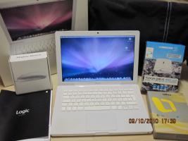 Apple MacBook 13'' white, 4 GB, Musiksoftware Logic Studio 8, viel Zubehör