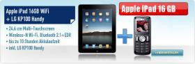 Apple iPad 16 GB WiFi + LG KP 100 Handy