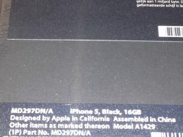 Foto 3 Apple iPhone 5 (aktuellstes Modell) - 16 GB - Schwarz & Graphit
