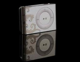 Apple iPod Shuffle 1 GB Silber mit Verzierung 2.Generation