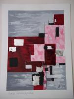 Aquarell - Moderne Malerei mit Blattsilber