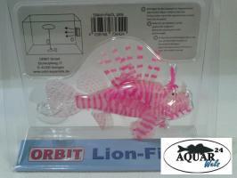 Foto 3 Aquarium Dekoration Silikon Fisch Orbit pink