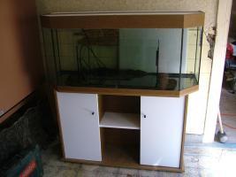 Aquarium Panoramabecken 200l 120x40x45cm mit Unterschrank
