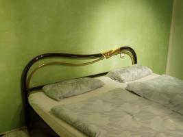 Foto 4 Armonie ESSEBI Designer Metallbett in Anthrazit mit echt Gold