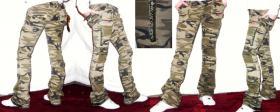 Army Militär Camouflage Hüfthose Jeans Lowcut sexy Größe 40