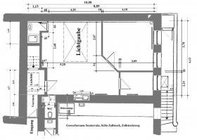 Atelier / Übungsräume, 60 m², im Süden von Köln, Parklage.