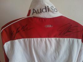 Audi Sport Jacke DTM Autogramm Rockenfeller Gr. M