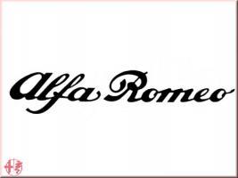 Aufkleber, Sticker, Pickerl Alfa Romeo Schriftzug in schwarz/bla