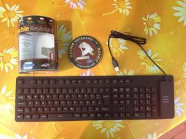 Aufrollbare Tastatur