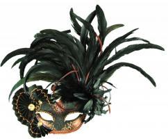 Augenmaske venedig Federmaske Augenmasken venezianisch venezianische Maske