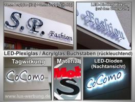 Foto 8 Außenwerbung für Geschäfte 3D LED Leuchtbuchstaben Leuchtkästen Leuchtreklame Leuchtwerbung
